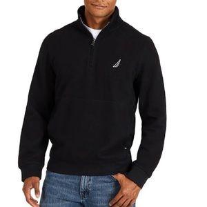 Nautica Men's 1/4 Zip Pullover with Fleece Lining